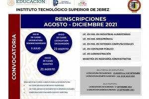 CONVOCATORIA REINSCRIPCIONES 2021