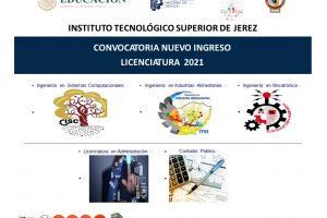 Convocatoria Nuevo Ingreso Licenciatura 2021